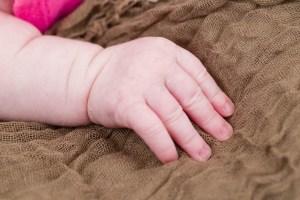 Hazel's little fingers