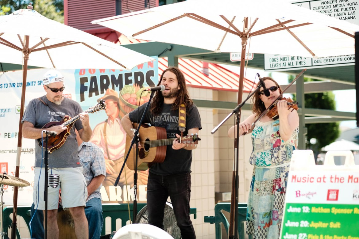 Local bands perform at the Salt Lake Farmers Market
