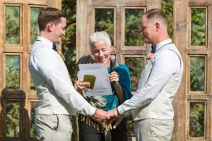 Matt & Dustin exchange wedding vows