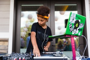 DJ Young 1 rocks the tunes
