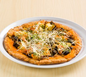 Portobello flatbread with sprouts