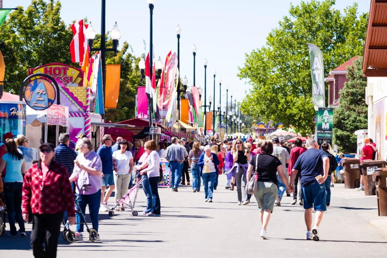 People at the Utah State Fair