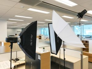 My light setup for the supplement photograph