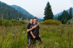 A beautiful meadow for engagements in the evening