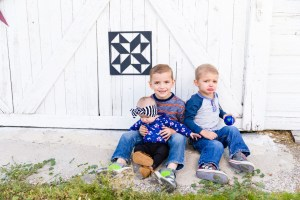 Ben, Luke & Claire by the barn