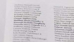 Matthew's name in the program
