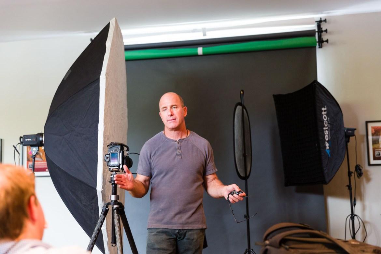 Joel Grimes teaching lighting