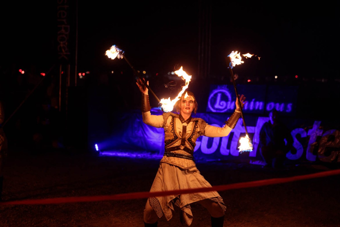 Fire dancers from Voodoo Productions