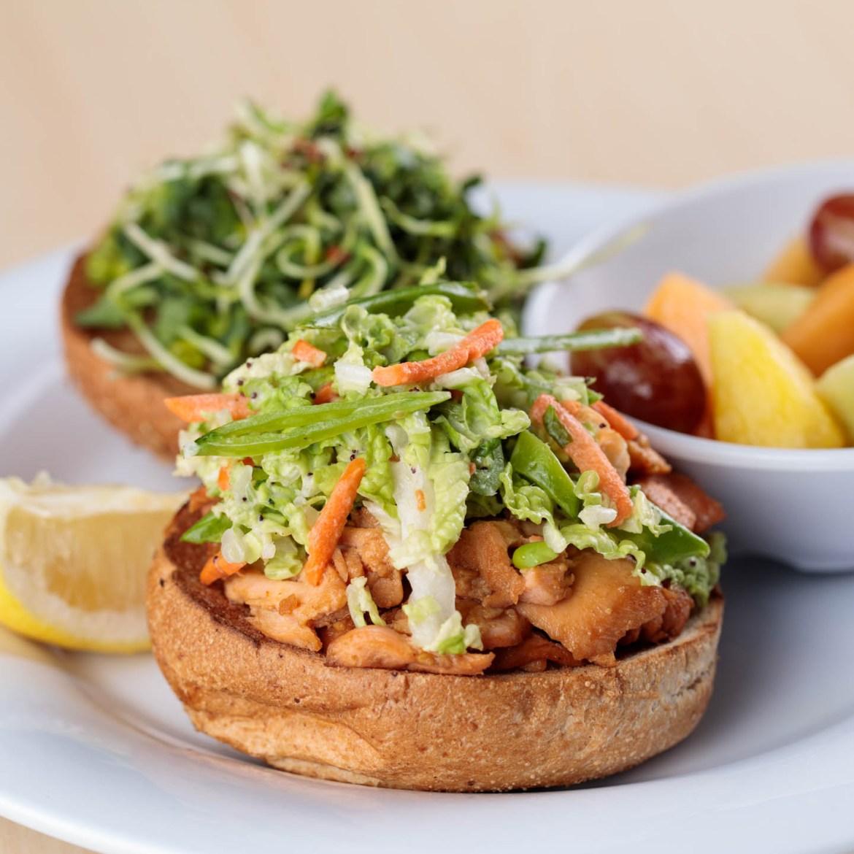 Sweet Spicy Sloppy Salmon Sandwich
