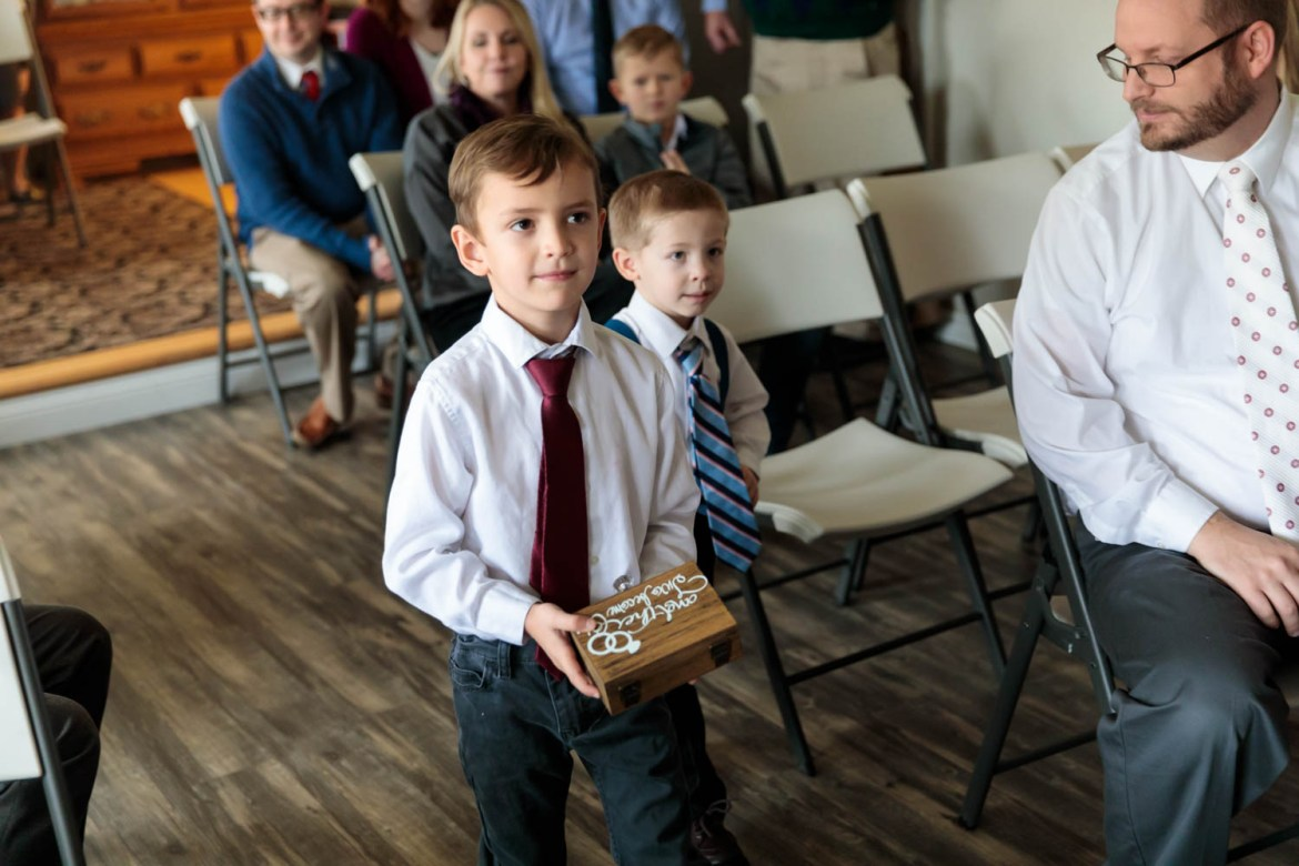 Ben and Levi are ring bearers