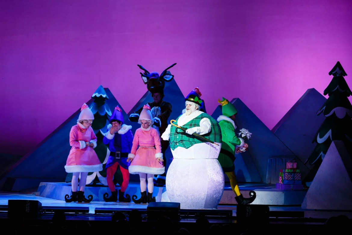 The snowman and elves