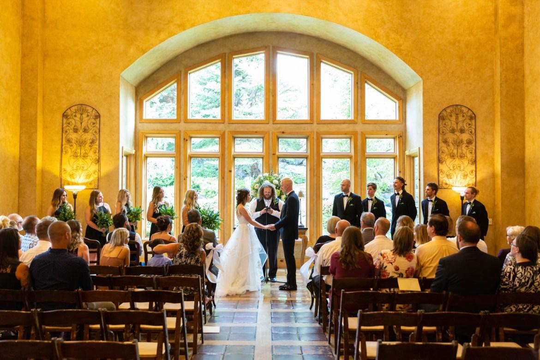 Wedding ceremony at Heritage Gardens