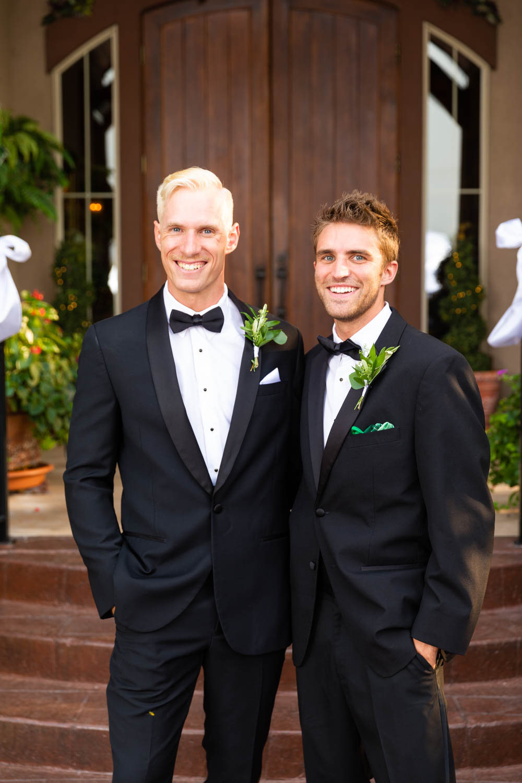 We photograph the groom with each groomsman
