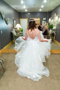 Sydney shows off her dress