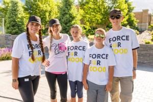 Families volunteering