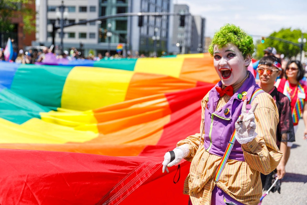Joker and the Pride Flag