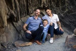 Family photo in a mini-cave
