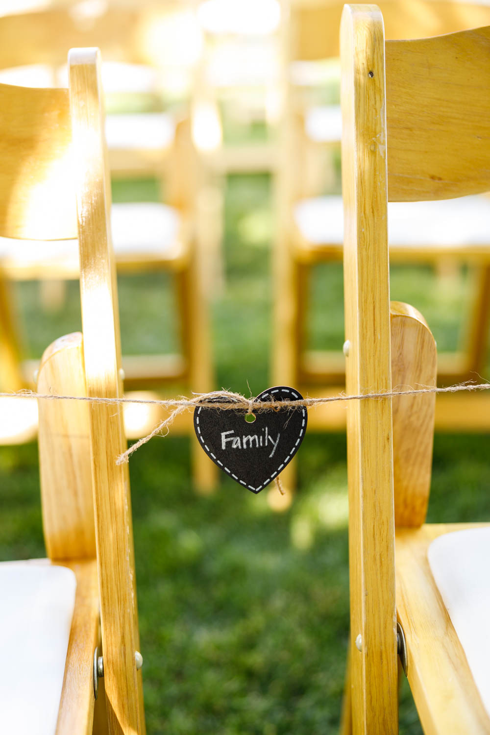 Seating reserved for family