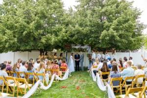 Backyard wedding service