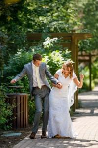 Wedding portrait at BYU Duck Pond