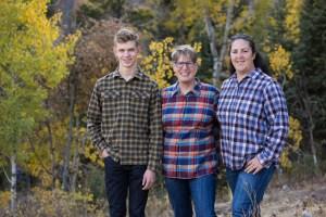 Family portrait in autumn