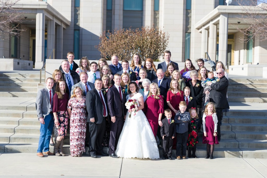 The whole family on the wedding day