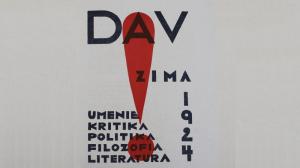 Obal prvého čísla DAV, poňatý v avantgardnom štýle