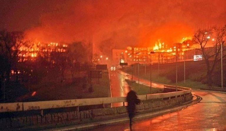 Belehrad počas bombardovania