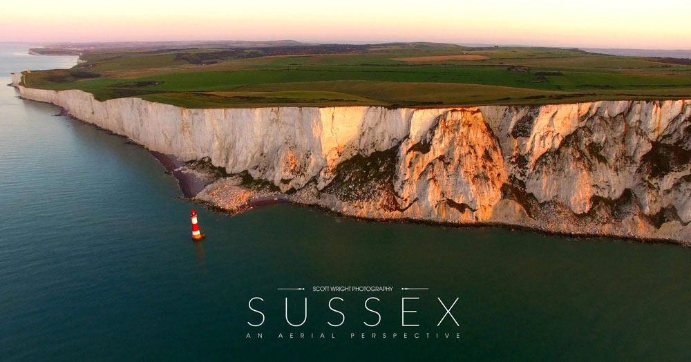 An aerial perspective of Sussex