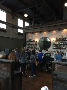 On a stormy day, the Ice Plant bar gets quite moody