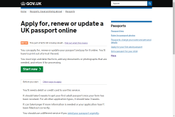 Services like passport applications and renewals are all online