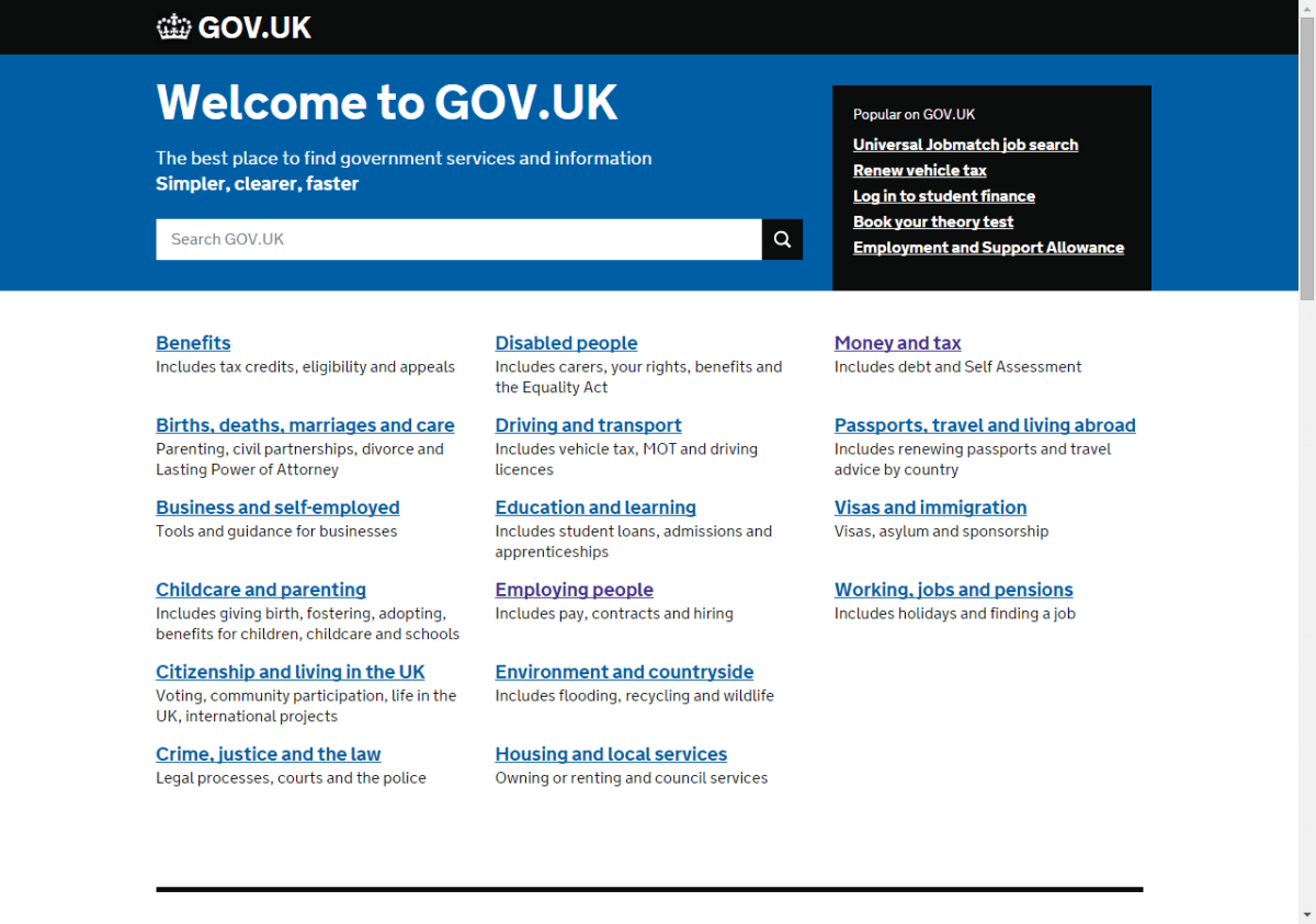 This is what the websites of central governments should look like – a homage to gov.uk