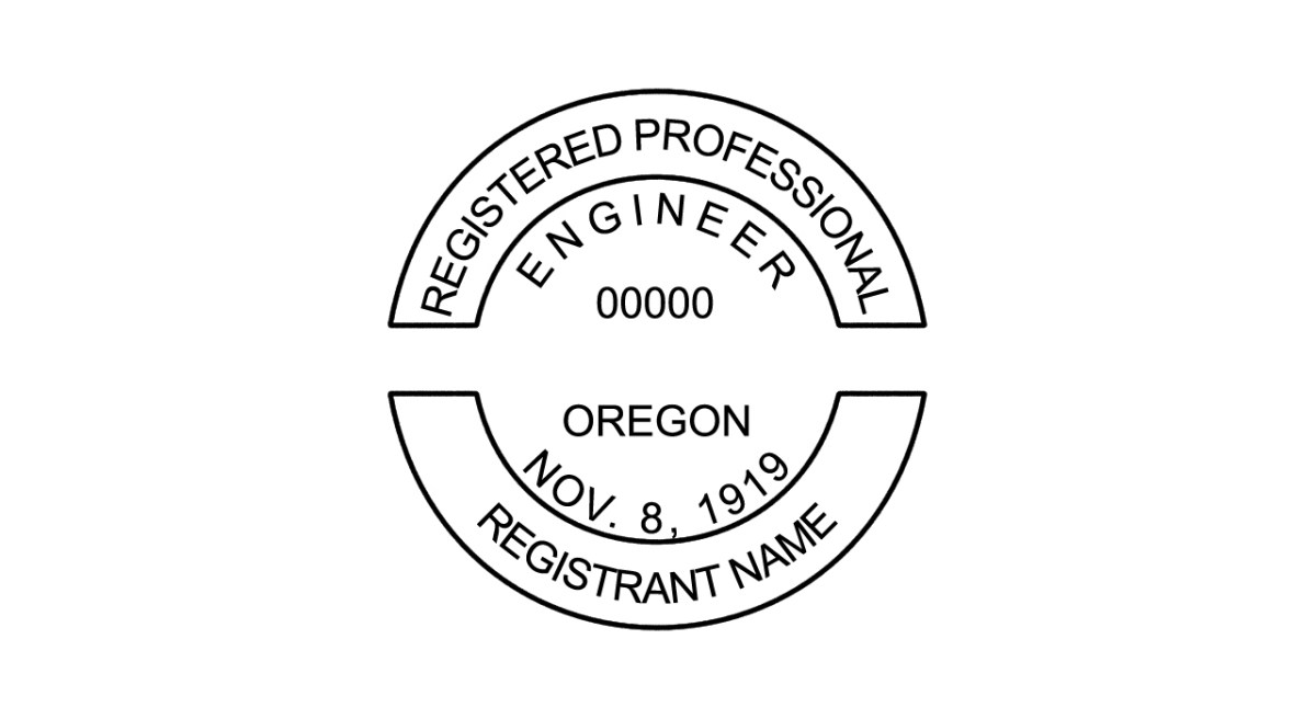 A Photoshop template for Oregon PE seal