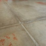 Garage Floor Expansion Joint Filled