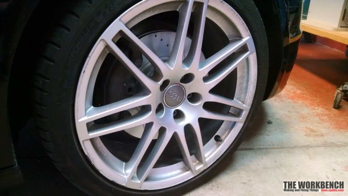 2011 Audi A4:  Installing New Brake Pads and Rotors