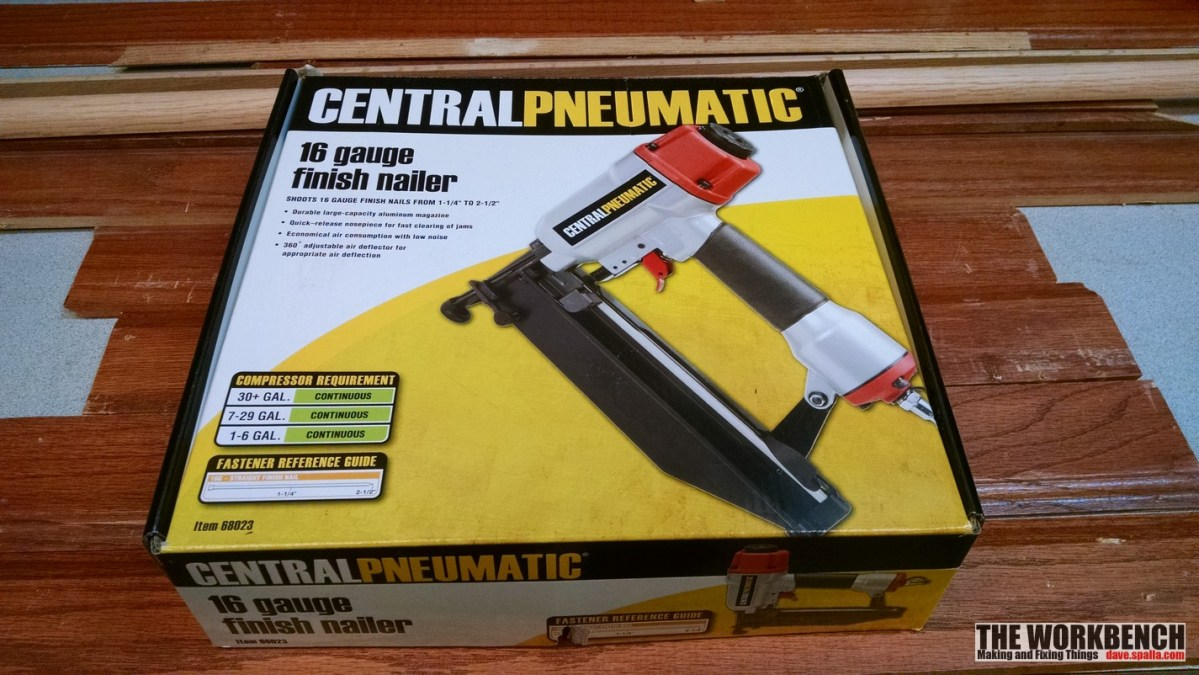 Central Pneumatic 16 Gauge Air Finish Nailer Review