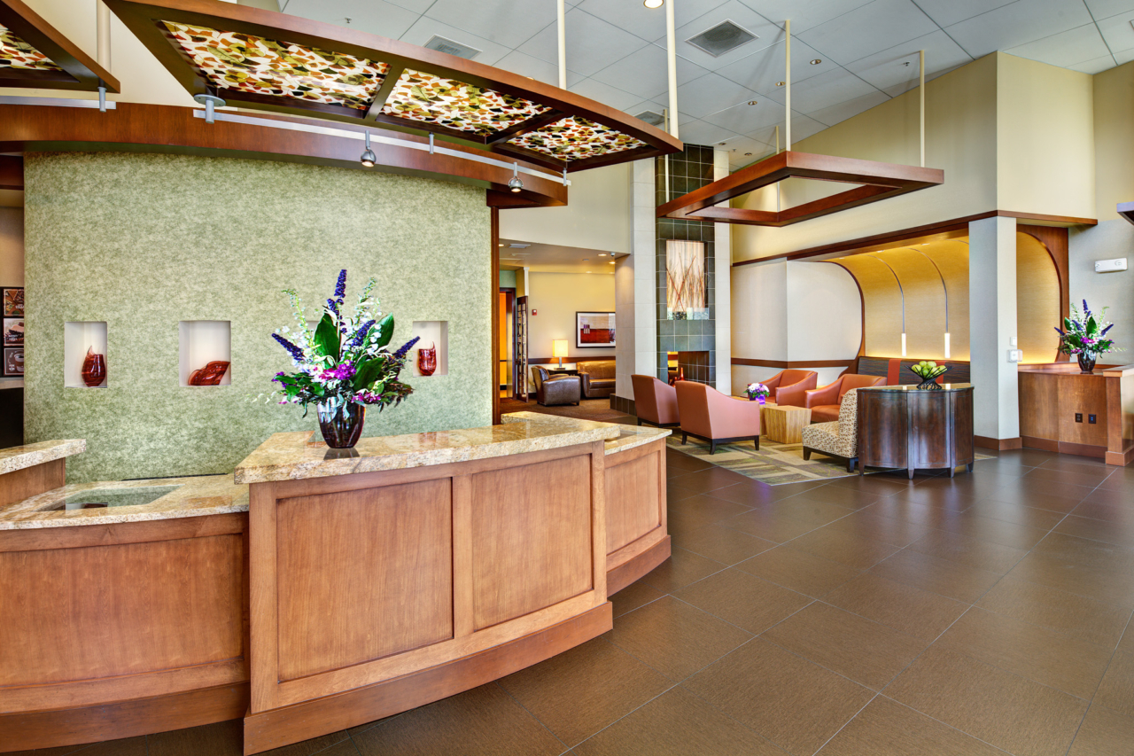 Interior Photography of Hyatt Place UC Davis Lobby