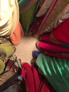 bottom of sari's