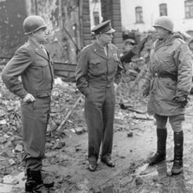 General Bradley, General Eisenhower, and General Patton