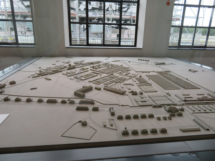 A model of the layout at Dachua.
