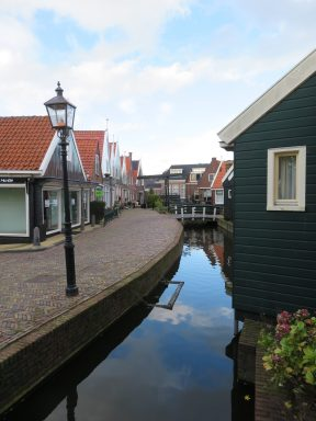The beautiful streets in Volendam.
