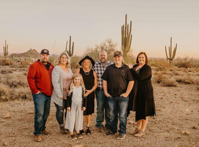 Family Photos at Usery Mountain Park
