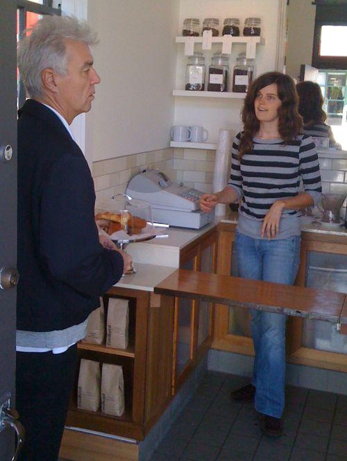 David Byrne at Sub Rosa Cafe