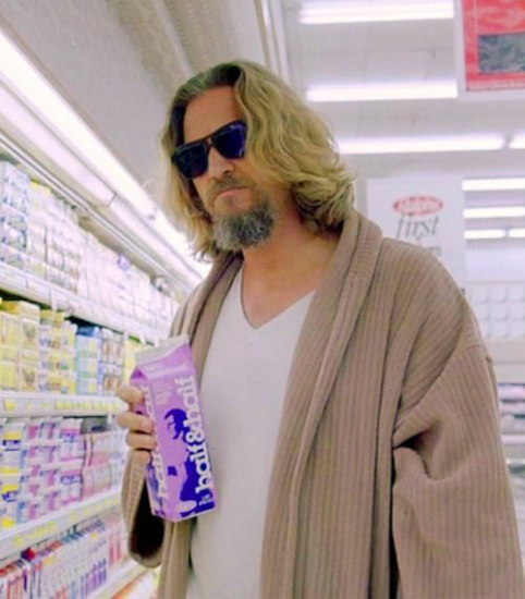 The Dude gets his Half & Half