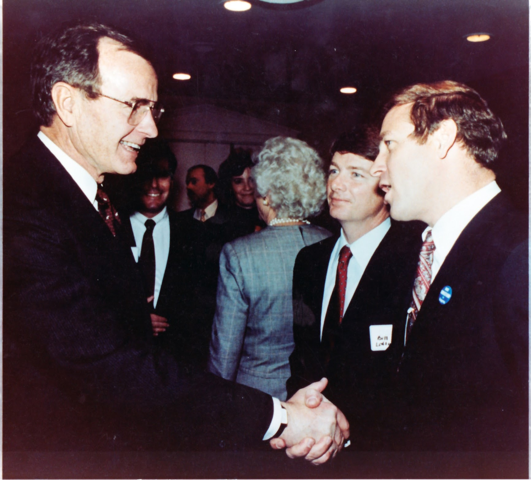 George H.W. Bush greets David A, Christian