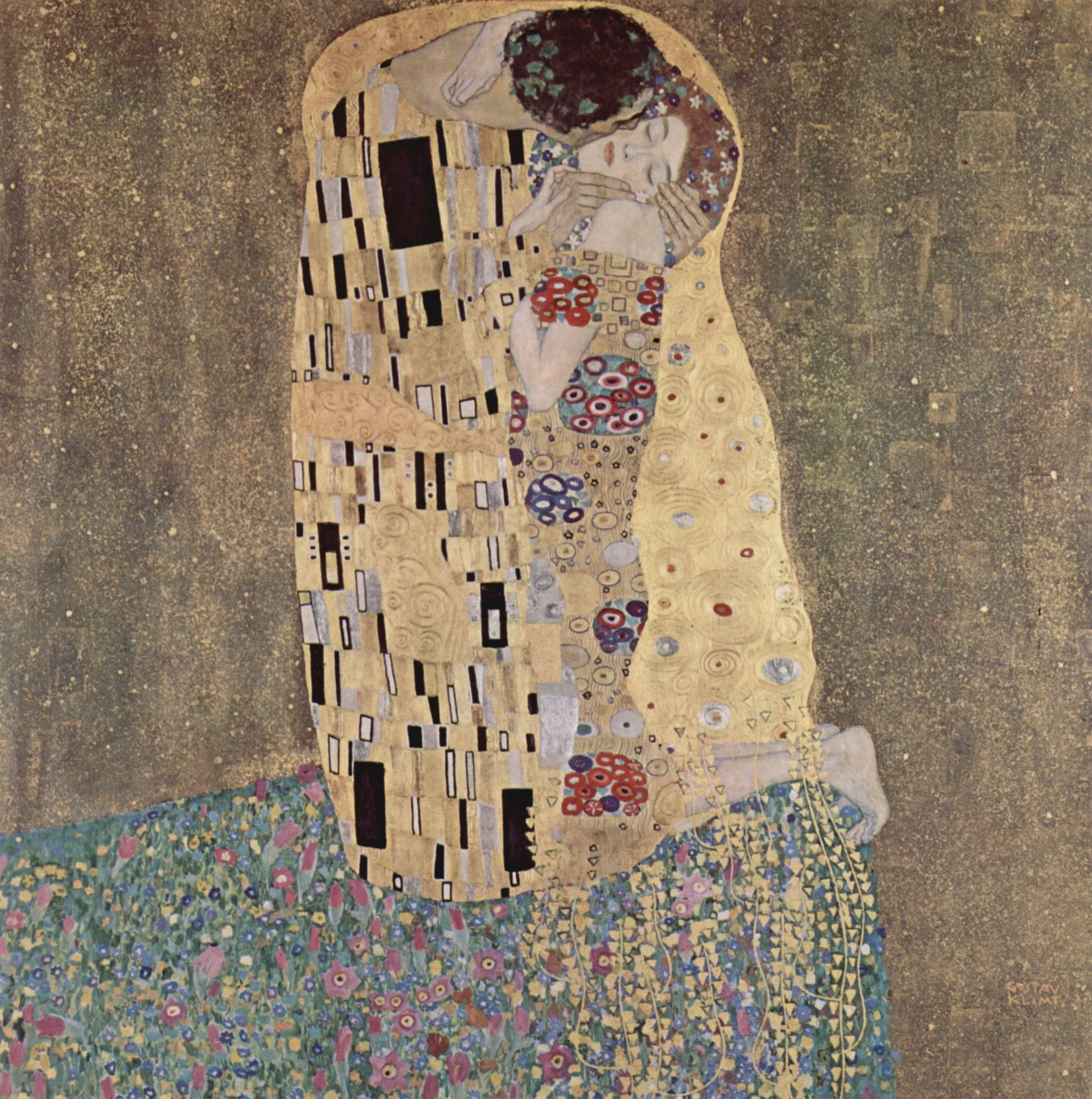 [Picture of The Kiss by Gustav Klimt]