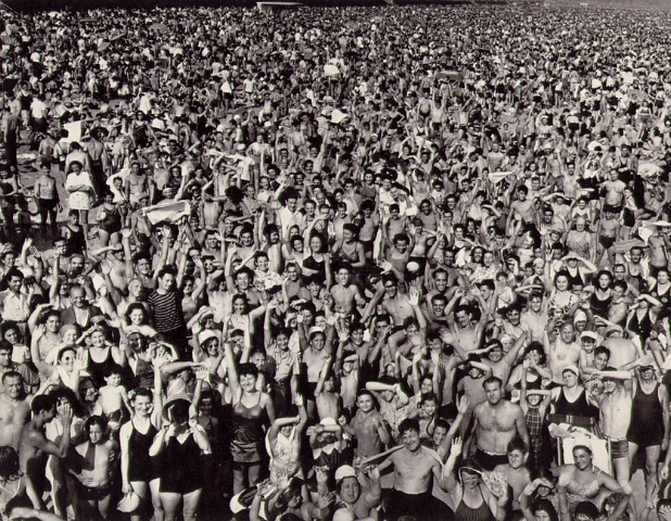 [Photography by weegee called 'coney island']