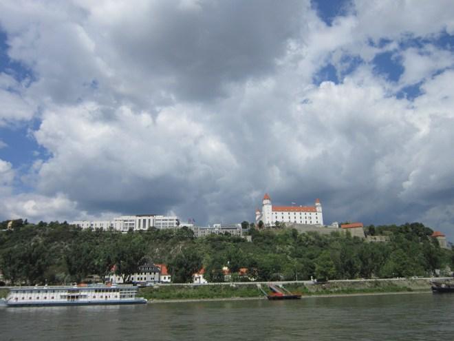 Bratislava Castle (Bratislavský hrad) as seen from the Danube