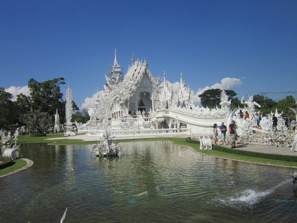 View of The White Temple, Chiang Rai, Thailand
