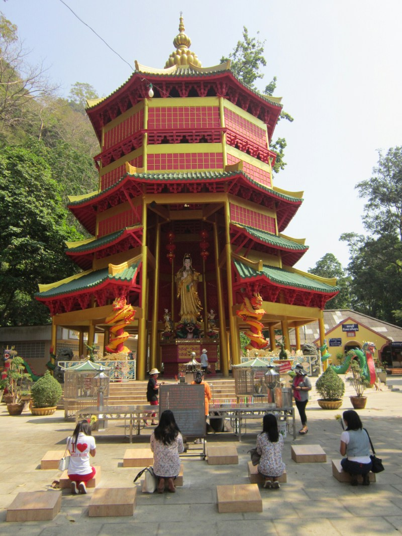 Chinese temple in Krabi - respecting Buddhist beliefs